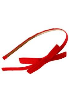 Bluelans Fashion Korea Style Bowknot Hair Band Bow Tie Headband Accessory Red (Intl)