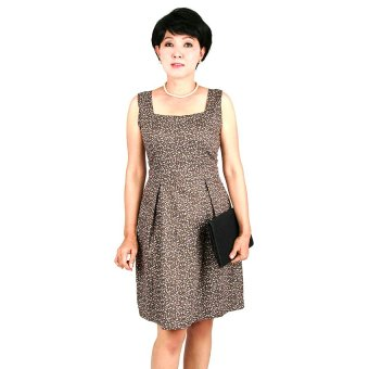 Đầm nữ trung niên Ugether UPAR30 (Nâu)