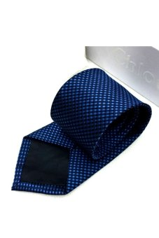 Cà vạt lụa thời trang bản vừa Victoria90 VT6009-1 (Xanh)