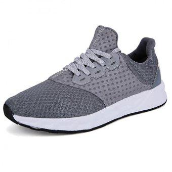 Men Casual Breathable Basket Soft Driving Sport Comfortable Walking Shoes(Grey) - intl