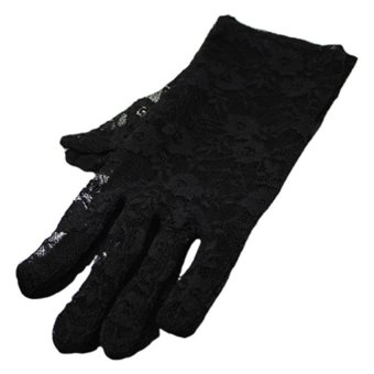 bluelans Wedding Driving Lace Gloves (Black) (Intl)