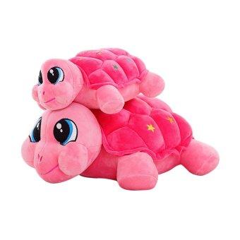 HKS Little Turtle Cat Doll Plush Toy Doll Cute Cartoon Tortoise Children Birthday Girl-Sky Blue 40cm - intl