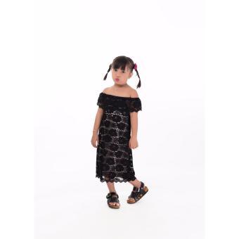 Đầm ren hở vai Somy Kids
