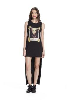 Đầm maxi in hình Gaga Blomor BW14840 (Đen)