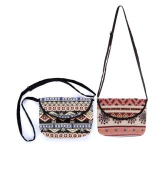 Bộ 2 Túi đeo chéo thời trang thổ cẩm họa tiết độc đáo Hoian Gifts HA-13