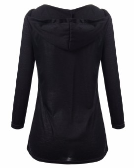 ZANZEA Lace Up Tie Casual Stretch Womens Front Cross Plunge Tops Hoodie Tee Shirt - Intl