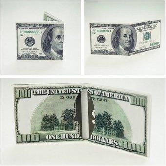 Bóp tiền lớn 100$ nhiều ngăn (Trắng)