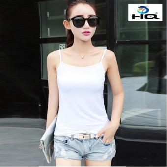 Áo hai dây cotton phong cách Hàn Quốc HQ 3TI55 2(trắng)