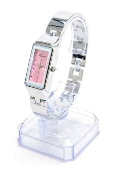 Đồng hồ nữ dây thép không gỉ Kimio K874 (Trắng mặt hồng)
