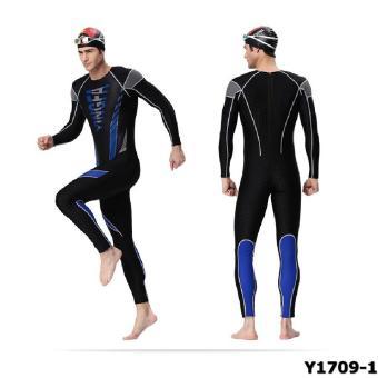 Áo bơi Yingfa Y1709-1 (đen xanh)