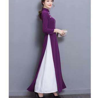 áo dài truyền thống thanh lịch-ADN00933