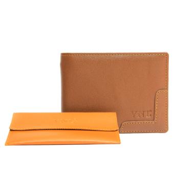 Ví nam Da Giày Việt Nam VNLVN2LAZ14NB ( Nâu Bò ) + Tặng ví đựng card visit.