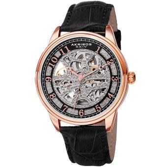 Đồng hồ nam dây da thật Akribos XXIV AK807RG (Đen)
