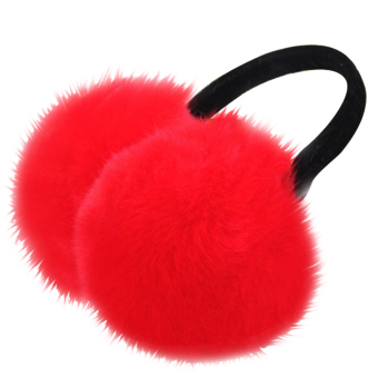 Unisex Women Men Faux Fox Fur Winter Warm Earmuff Earlap Winter Ear Muffs Warmer Muff Red - intl