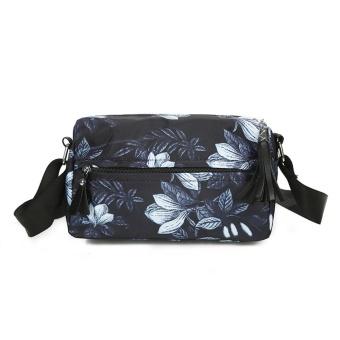 Women Fashion Handbag Nylon Floral Flowers Shoulder Bag Large Tote Ladies Purse - intl