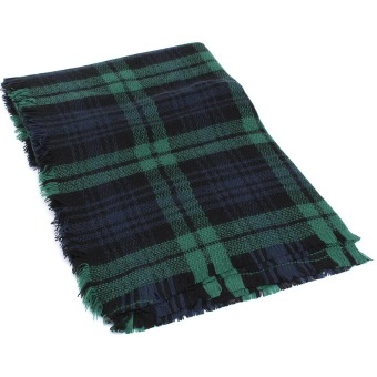 Women Winter Checked Plaid Scarf Blanket Tartan Wrap Shawl Stole Pashmina Gift style D - Intl