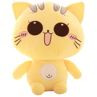 HKS Cute Kitty Pillow Doll Size Plush Toy Doll Doll BB Happy Birthday Girl-Eyes 20cm - intl