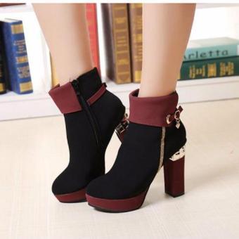 Giày Boots Cao Gót