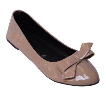Giày búp bê nơ MeGirl 92188 (kem)
