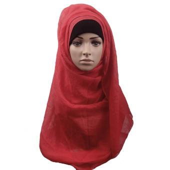 Fashion Muslim Women Shawl Scarf Head Cover Headscarf Muffler Red