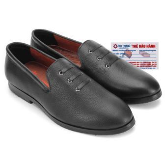 HL7736 - Giày nam Huy Hoàng đan 3 dây màu đen