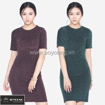 Bộ 2 Váy Midi Body Nhũ Dáng Dài Cộc Tay SoYoung DRESS 0068C B D