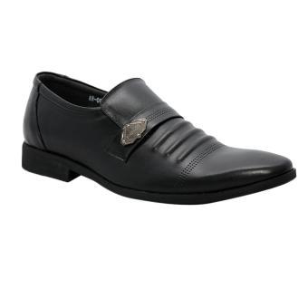 Giày nam da bò thật cao cấp màu đen ESM38