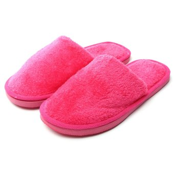 New Hot Women Men Home Anti-slip Shoes Soft Warm Cotton House Indoor Slippers - intl