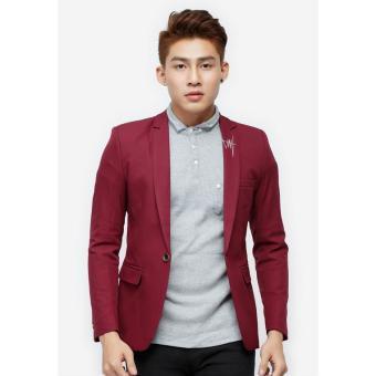 Áo vest Titishop màu đỏ cổ bẻ thêu họa tiết AVN59 l