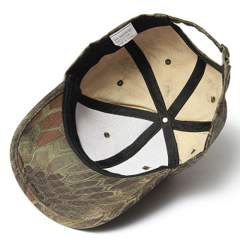 Men Women Camo Caps Adjustable Velcro Military Hunting Fishing Army Baseball Hats - Intl - Intl