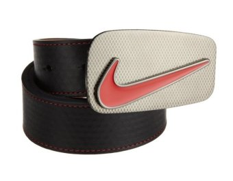 Thắt lựng (nịt) thể thao nam da thật cao cấp NIKE Golf Edge Stitch Belt with Laser Buckle (Mỹ)