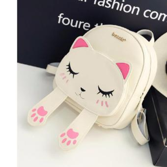 Balo thời trang nữ hình con mèo MH552 trắng