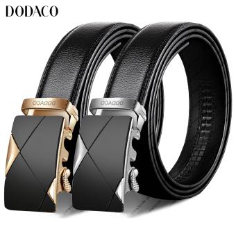 Bộ đôi thắt lưng nam da DODACO DDC34 (Vàng bạc)
