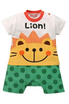 Bộ áo liền quần liền hình thú ngộ nghĩnh Family Shop TEH03 (Cam phối xanh)
