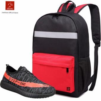 Combo Balo Cylinder Laptop BLL003RE + Giày Sneaker GS063GR (Xám) - CB028