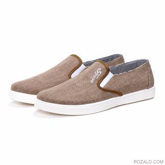 Giày Lười Vải Nam Sportmax Smg56030br (Nâu)