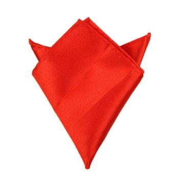 Fancyqube Multicolor Men Wedding Solid Pocket Square Handkerchief Hanky Accessory Red - Intl