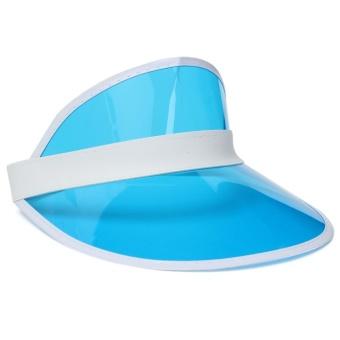 Unisex Sun Visor Poker Player Hat Golf Neon Pub Stag 1980s Dance Tennis Hike Cap Blue (Intl) - intl
