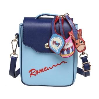 Topsellers365Cartoon Decorated Letter Print Crossbody bag ( Blue ) - intl