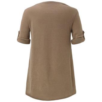 ZANZEA Fashion Button Poncho Blouse Long Sleeve Women Cowl Neck Top (Intl)