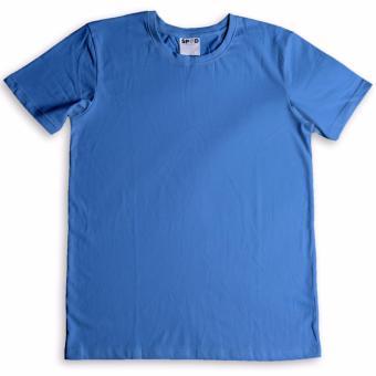 Áo thun trơn 100% Cotton Ai Cập (mầu xanh dương)