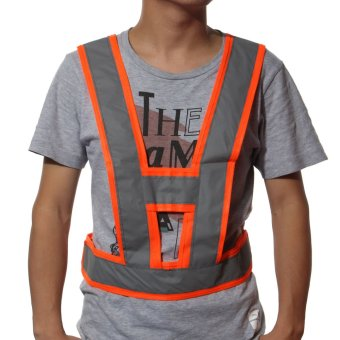 High Visibility Traffic Waistcoats Vest Security Reflective Stripes Jacket Safe Orange NEW - intl