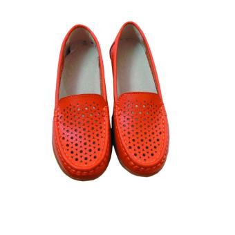 Giày nữ da bò GD670716V (Cam)