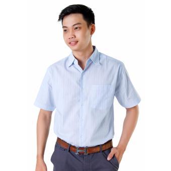 Áo Sơ Mi Nam Big Size Sọc Xanh Da Trời Xinh Store