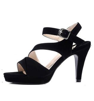 Giày cao gót quai chéo cách điệu CGQC173040