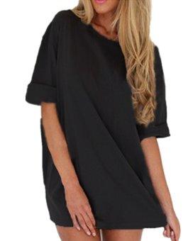 Zanzea Women Loose T Shirt A-line Dress Casual Blouse Black - Intl