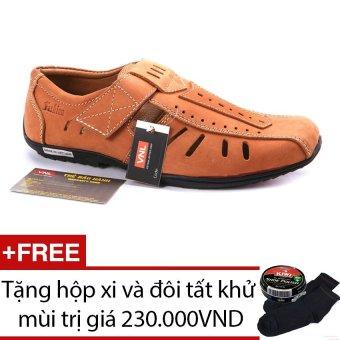 Giày rọ da thật nam Da Giày Việt nam VNLL1AZA01QB (Bò) + Tặng hộp xi và đôi tất khử mùi