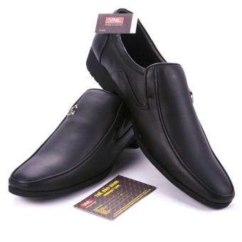 Giày tây công sở nam da thật chính hãng Da Giày Việt Nam VNLMT4A12D (Đen).