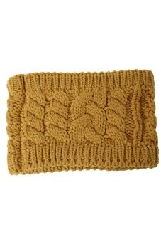 LALANG Turban Knitted Headband (Yellow)