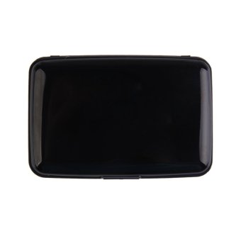 High Capacity Bank Card Holder Credit Card Name Card Box Case Black (Intl)